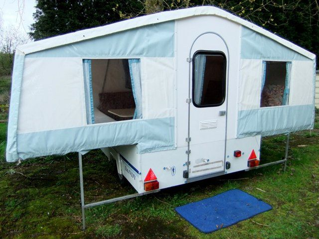 trailer tent | Tent camping, Used camping trailers ...