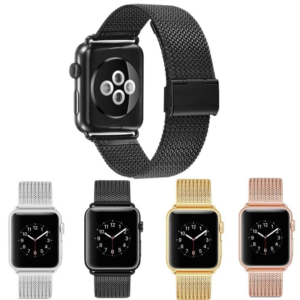 Apple Watch Series 5 4 3 2 Band, Milanese style, Stainless