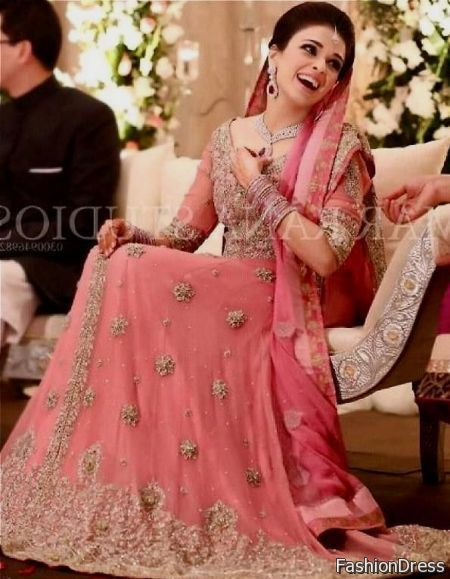 Cool Pink Pakistani Bridal Dresses 2017 2018 Bride Jora Options