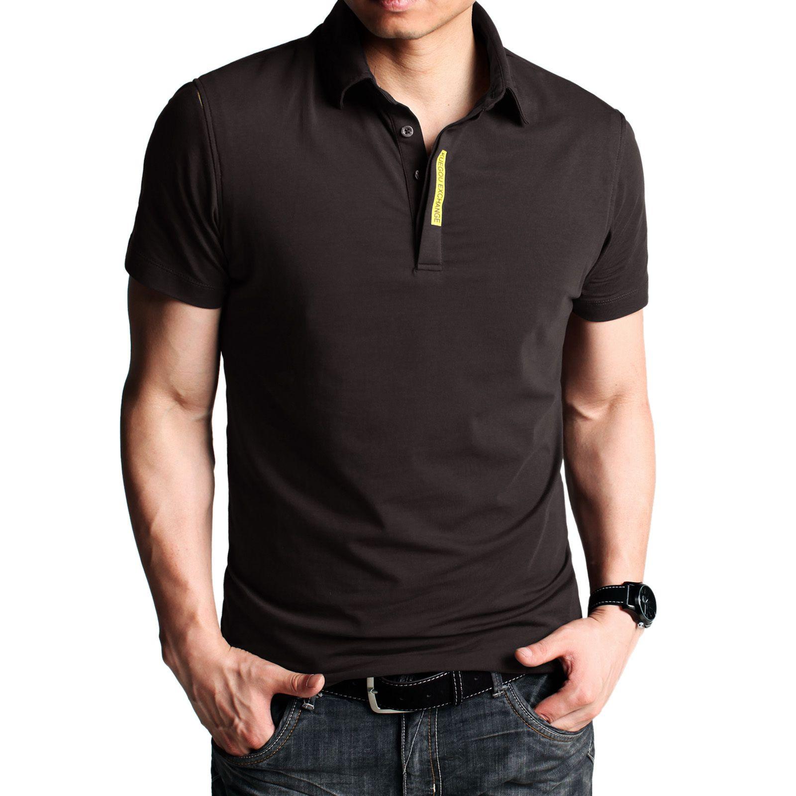 4d650fe4fd5f Kuegou Short Sleeve Polo Shirt Code  20124690 - Men s Polo Shirts - Men s  Clothing at Clothing.net