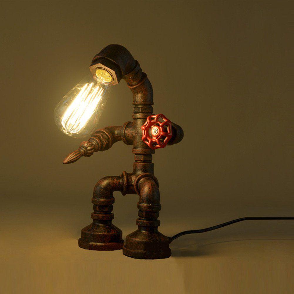 Baycheer hl industrial retro style rust iron robot plumbing