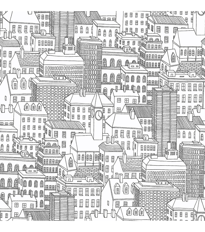 Wallpops Nuwallpaper Metropolis Peel And Stick Wallpaper Joann Jo Ann Peel And Stick Wallpaper City Wallpaper Scenic Wallpaper