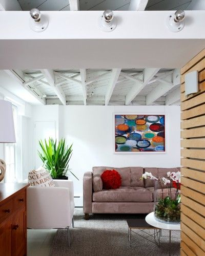 Painted Unfinished Basement Ceiling White To Match The