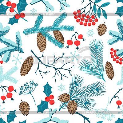 Frohe Weihnachten nahtlose Muster mit Winter | Stock Vektorgrafik | ID 4612871