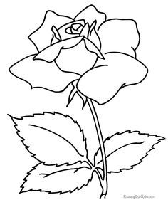 Free Printable Flower To Color For Mothers Day Flower Coloring