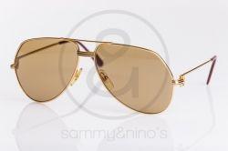 f200d0c3ab91 vintage Cartier sunglasses Vendome Louis gold sammyninos 1