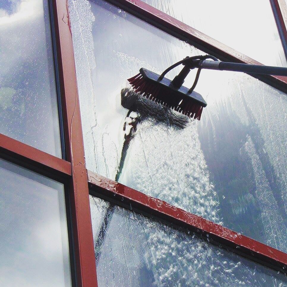 Our Cleaning Methods Include Traditional Window Cleaning Reach Wash Water Fed Pole System Window Cleaner Traditional Windows Commercial Window Cleaning