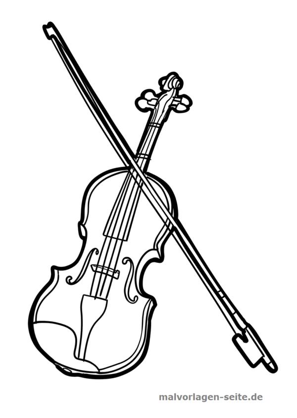 Malvorlage Geige Musik Geige Musik Instrumente