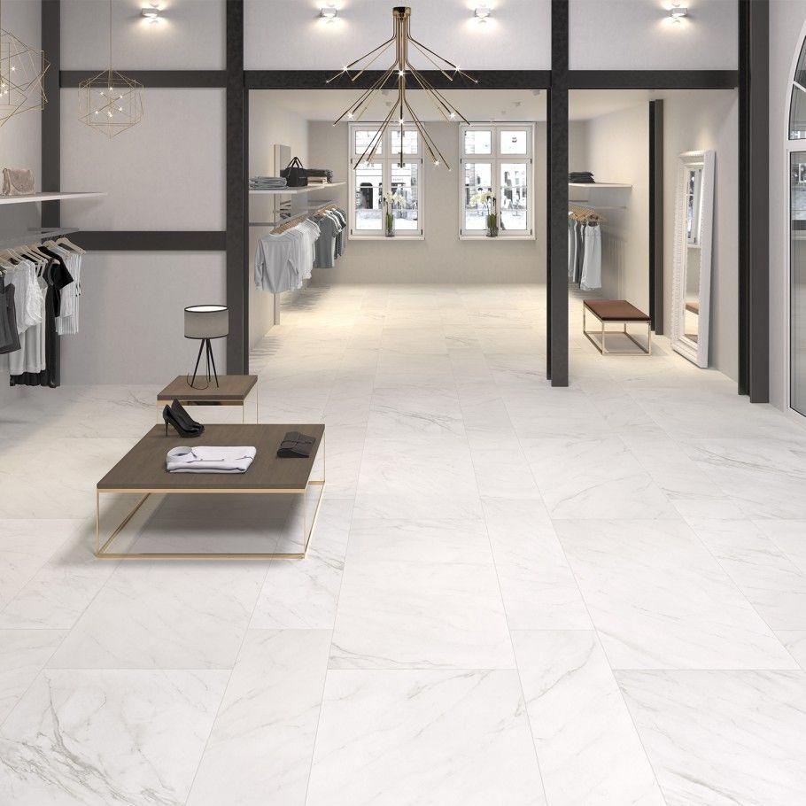Belvedere Bianco 15x60 Marble Look Porcelain Tile In 2020 Marble Flooring Design Living Room Tiles Tile Floor Living Room #stone #flooring #living #room