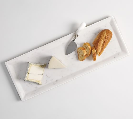 White Marble Rectangular Cheese Board Long Cheese Boards