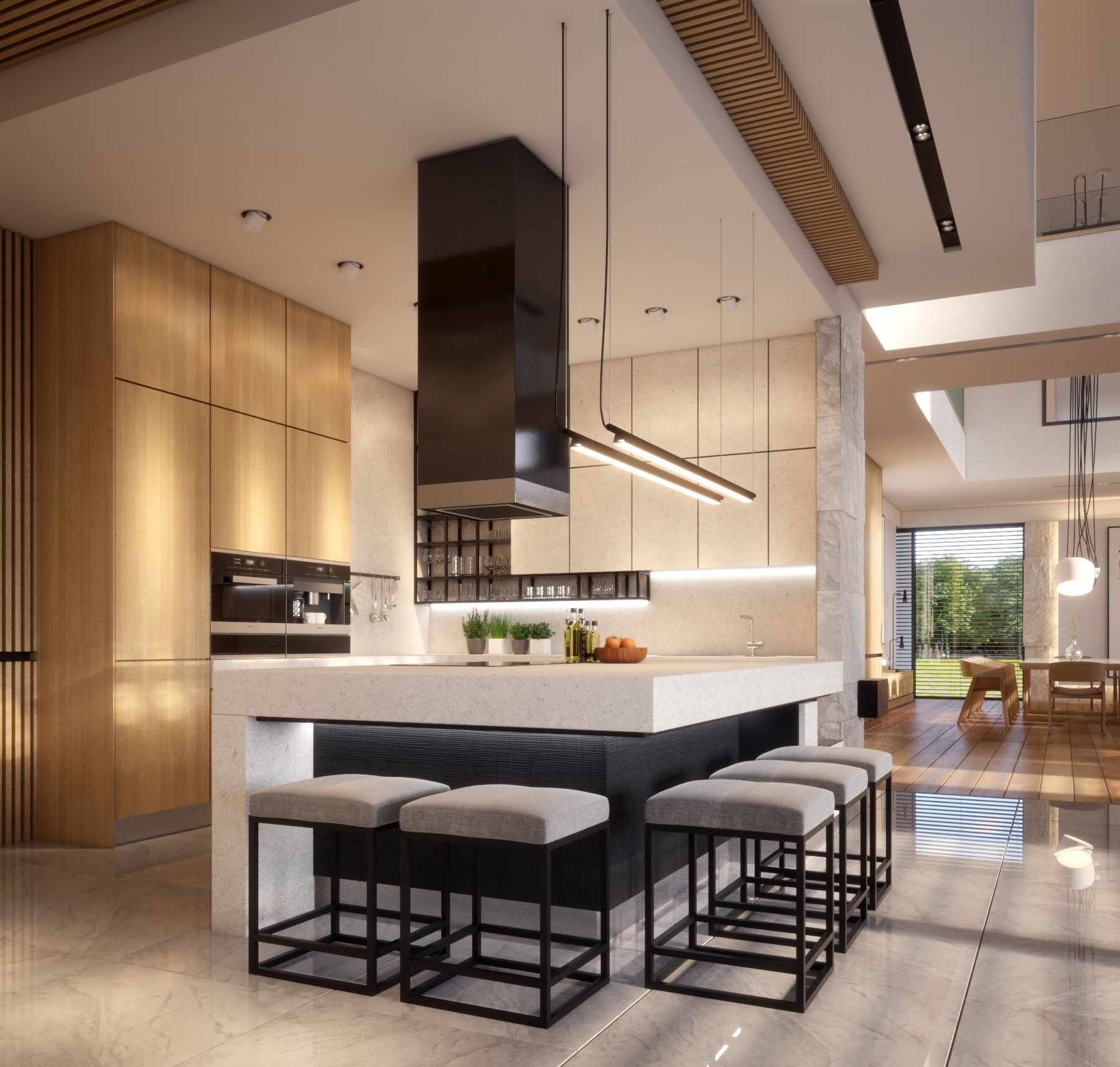 Warm Wooden Modern Interior Design Home About Surface 700m2 My Concept Of Interior Design For The Invest With Images Interior Design Kitchen Small Modern Interior Decor