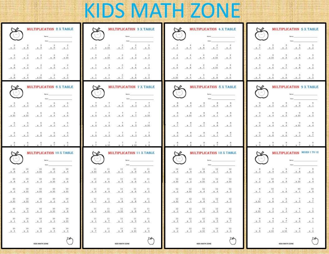 141 Multiplication Worksheets Printable For 2nd Grade To