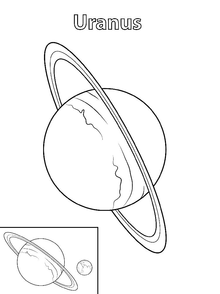 Planet Coloring Pages Saturn Planet Coloring Pages Uranus