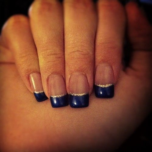 make this blue, a royal blue, and they\'d be my kind of nails ...