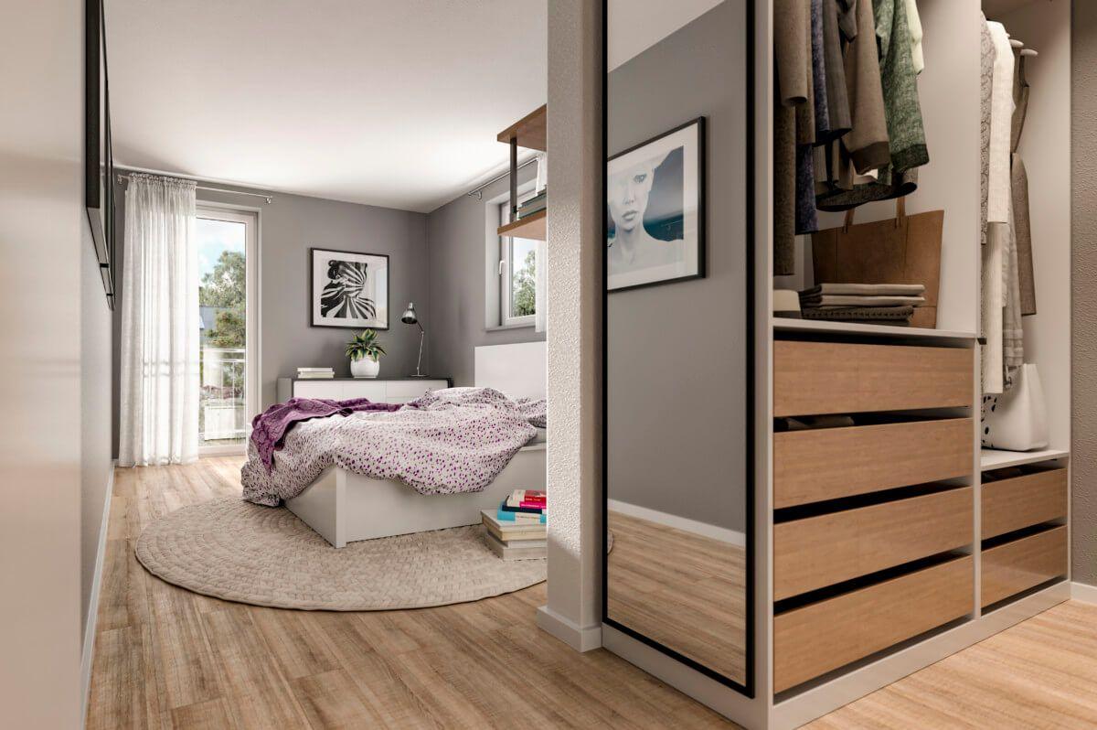 Schlafzimmer Ideen mit Ankleide Einrichtung modern