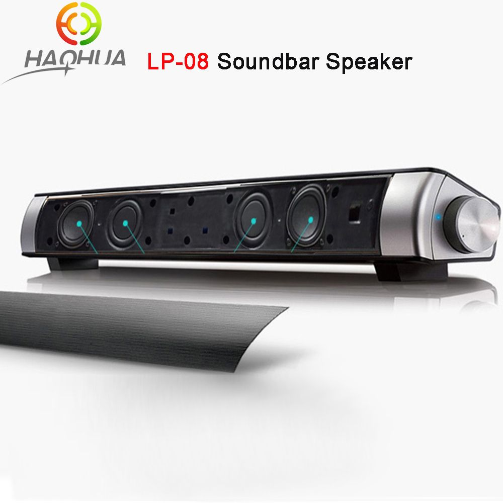 Upgraded Newest Hifi Portable Bluetooth 10w Soundbar Mini Wireless Speaker Amplifier Stereo Sound Bar With Mic
