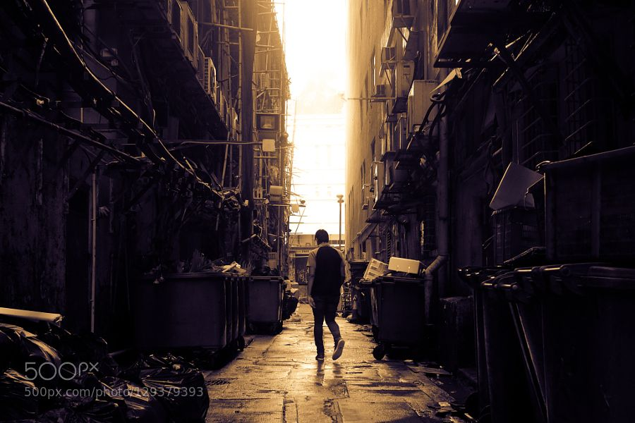 Lost in an Urban Maze Alleyway behind the famous Chungking Mansions