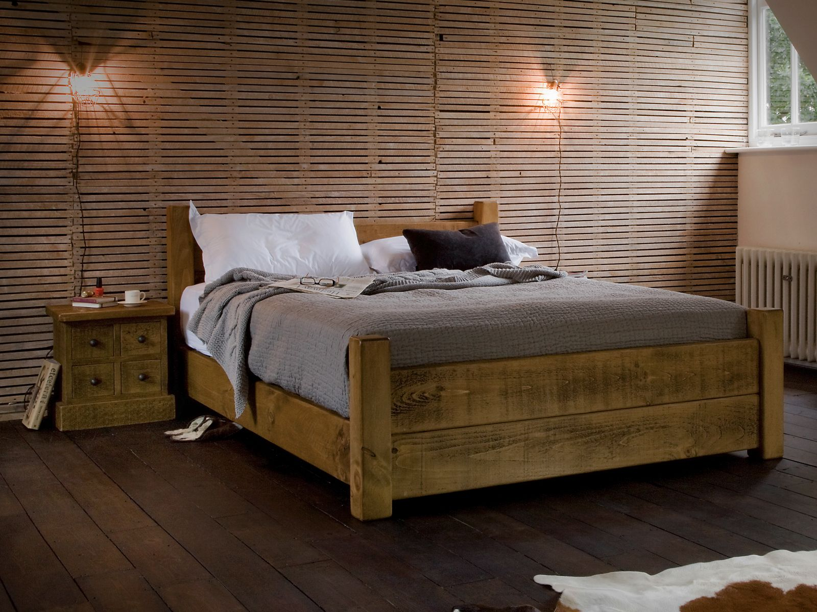 Plank+Loft+Bed | bedroom | Pinterest | Camas, Camas de madera y ...