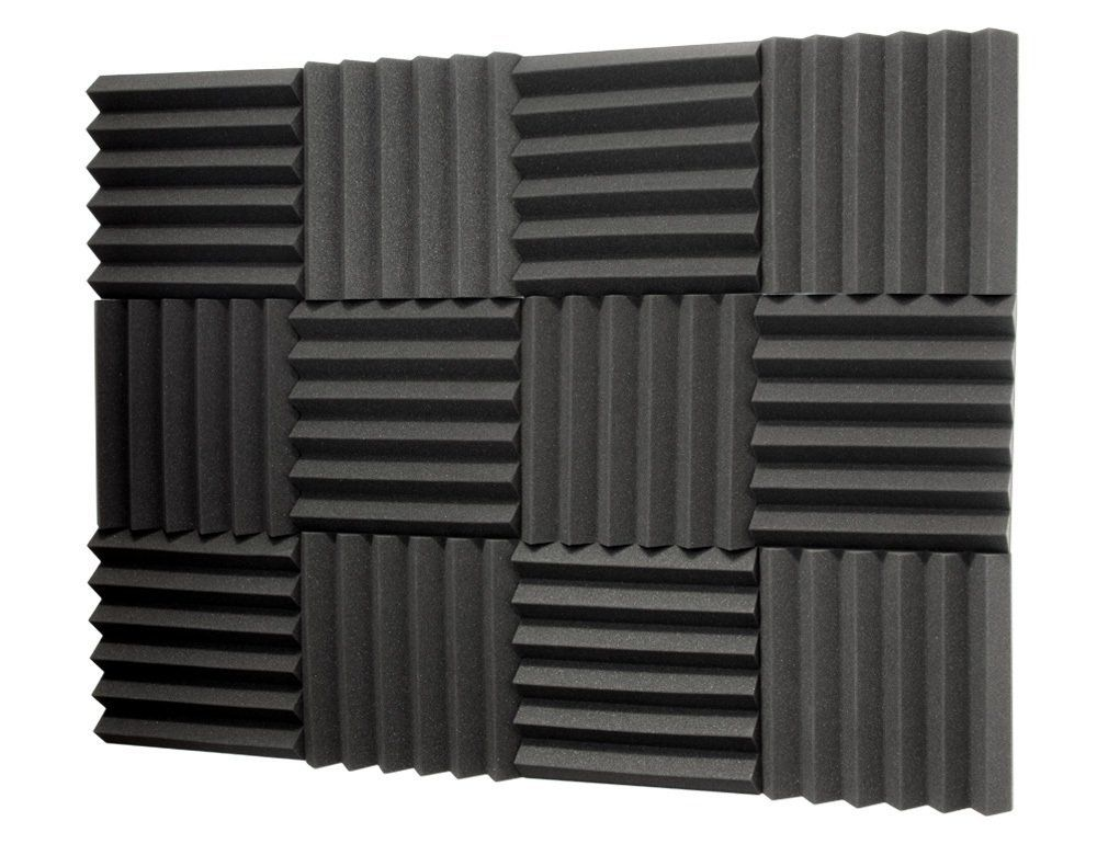 Amazon Com Sewell Sound Dampening Foam 2 Inch Thick 1ft X 1ft 12 Pack Musical Instruments Sound Dampening Studio Foam Acoustic Panels