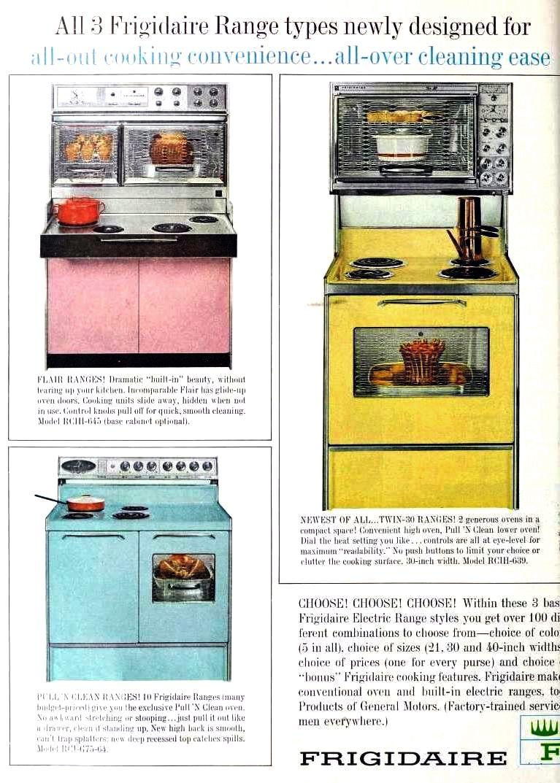 1964 Frigidaire Electric Ranges | Vintage Appliance Ads | Pinterest ...