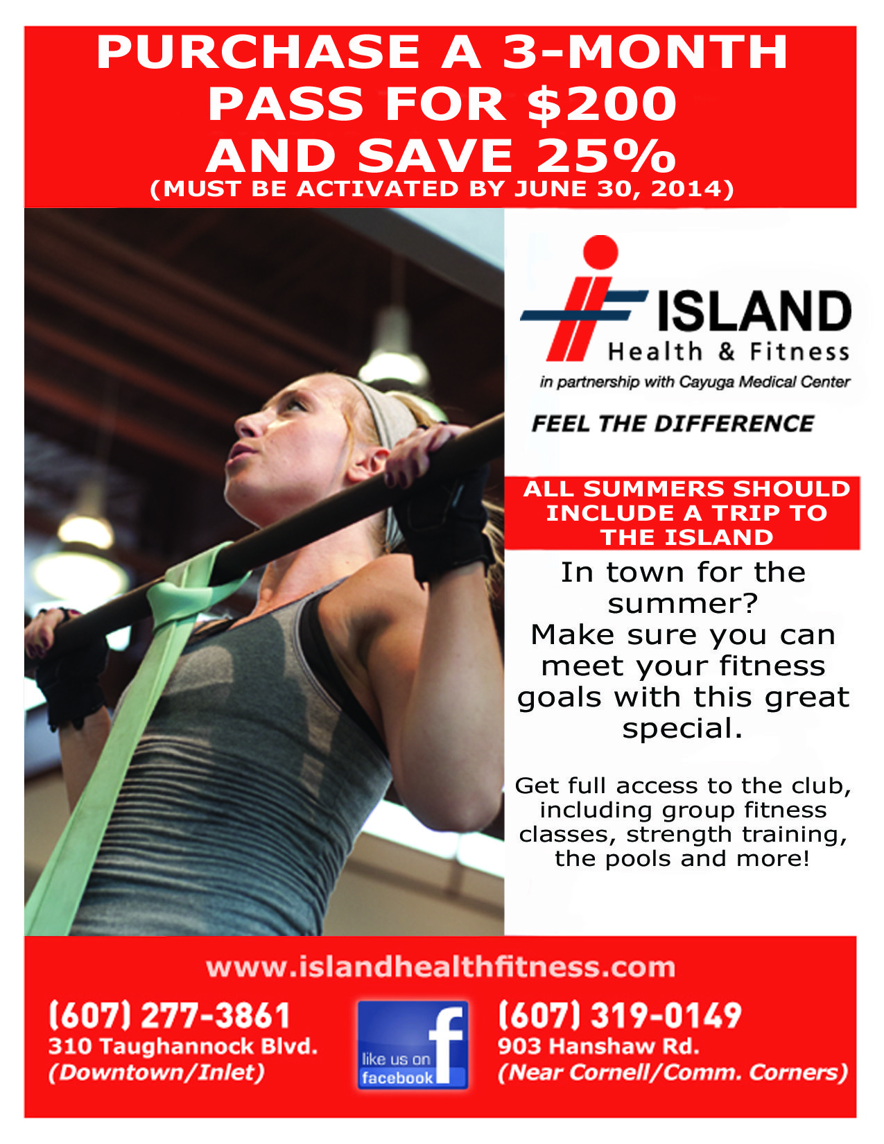 Cornell Fitness Classes : cornell, fitness, classes, Advantage, Discount, Three-month, Pass., Health, Fitness,