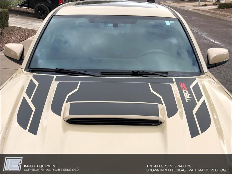 Toyota TRD Hood Graphics Only, Choose PRO, 4x4 Off
