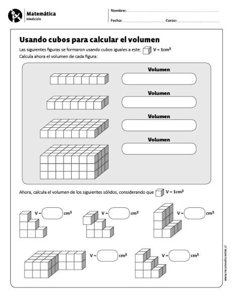 Usando cubos para calcular el volumen | Matemática 5 y 6 | Pinterest ...