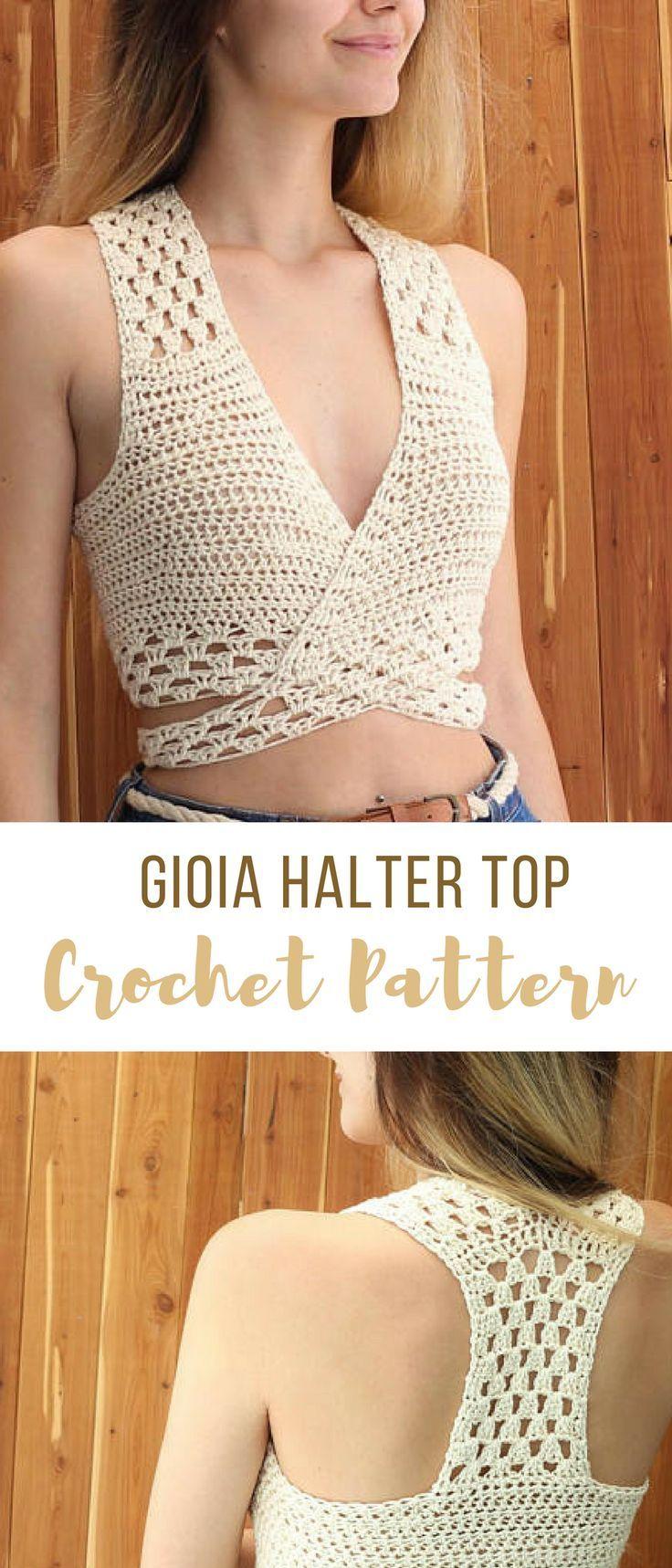 Easy Crochet Halter Top Pattern #crochethaltertoppattern ...