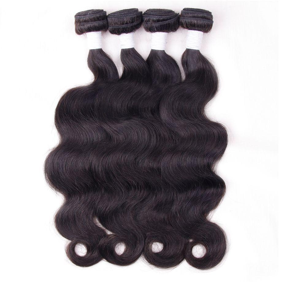 By Brazilian Human Hair Unprocessed 4 Bundles Remy Hair Weaving