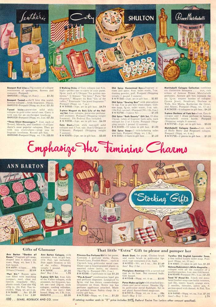 Vintage Women's Makeup from a 1952 Sears catalog Vintage