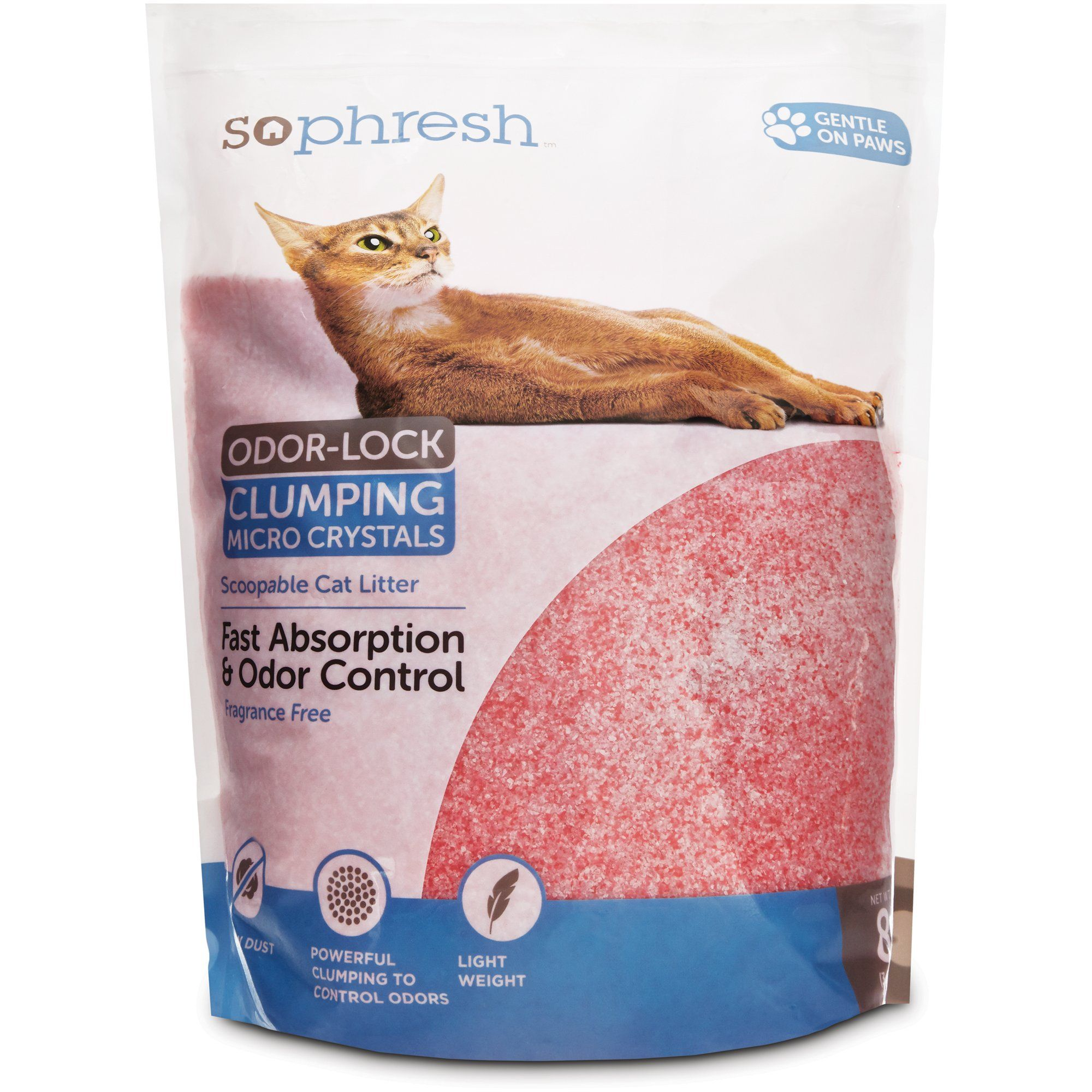 So Phresh Scoopable Odor Lock Clumping Micro Crystal Cat Litter In Pink Silica 8 Lbs Cat Litter Cat Litter Odor Litter