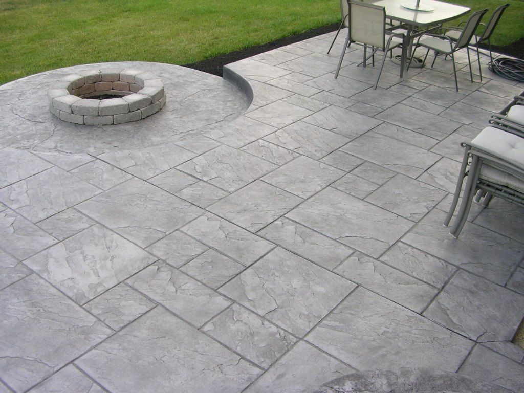 Picture 8 Of 31   Stamped Concrete Driveways Ideas   Photo Gallery   Back  Patio Ideas