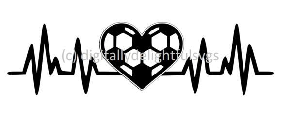 Soccer Heartbeat Svg Soccer Tattoos Soccer Silhouette Soccer Drawing