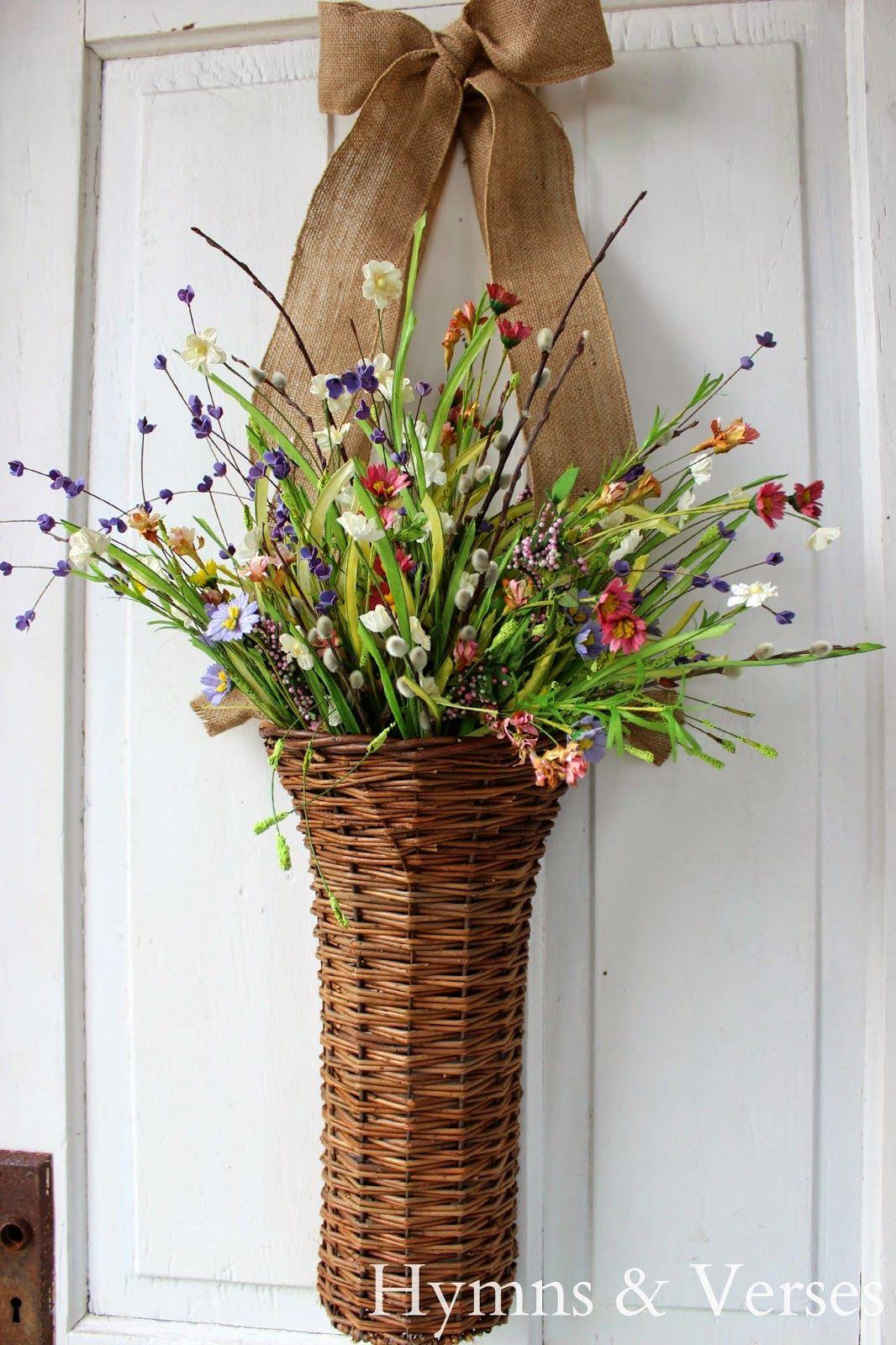 Nice Hymns And Verses: Front Door Spring Basket