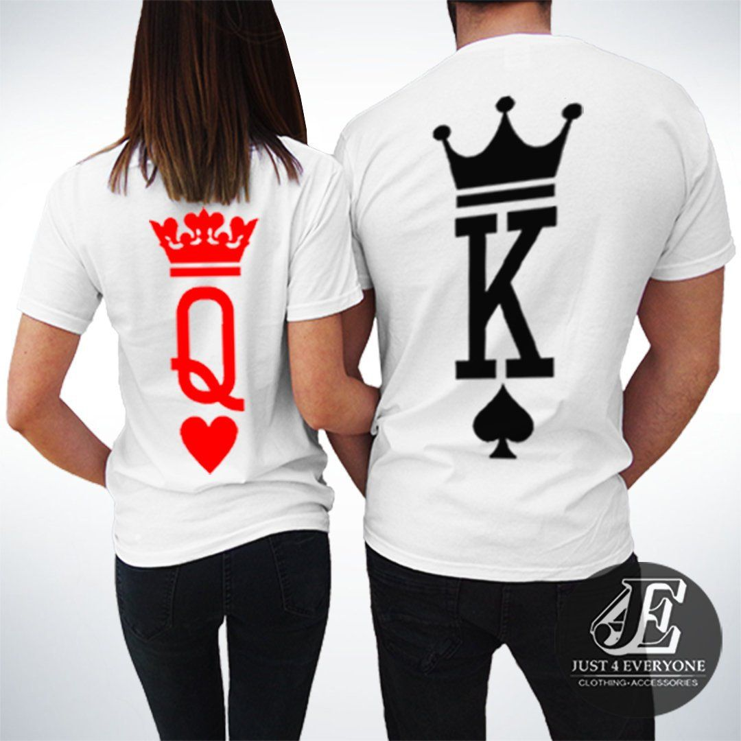 Gifts for Her Matching Shirt King and Queen Matching Shirt Queen Shirt King Shirt Valentine Shirt Couple Shirt Couple Matching Shirt