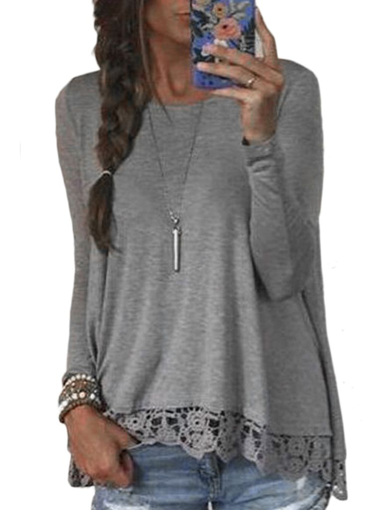 Shop Long Sleeve Crochet Loose T-shirt online. SheIn offers Long Sleeve Crochet Loose T-shirt & more to fit your fashionable needs.