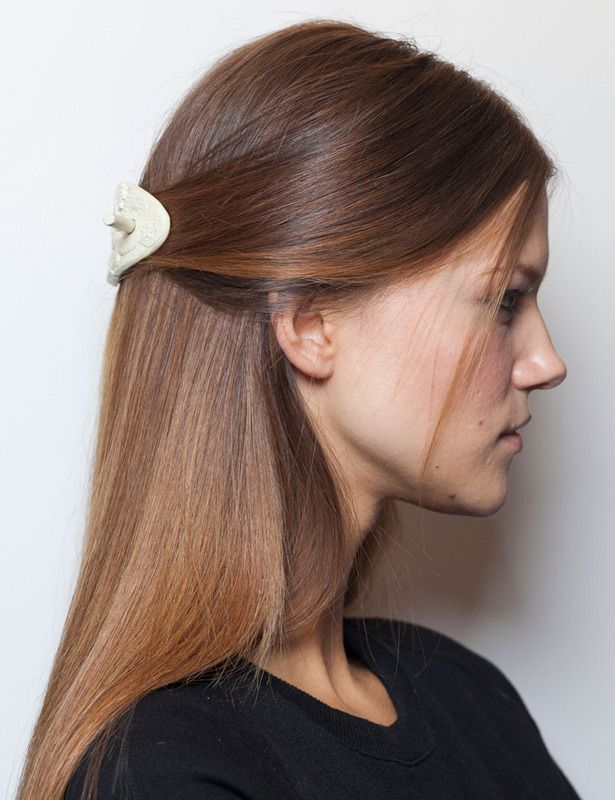 Nuestros peinados favoritos Pinterest Medio recogido Pelo liso