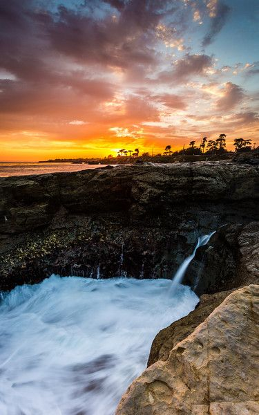 Water Bowl, Lighthouse Point in Santa Cruz, CA.