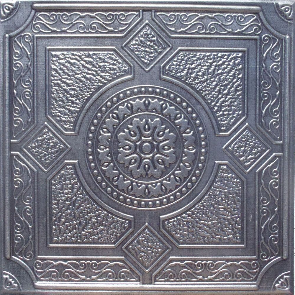 depot tiles tin files metal pic and silver the home popular concept ceiling fireplace unbelievable of