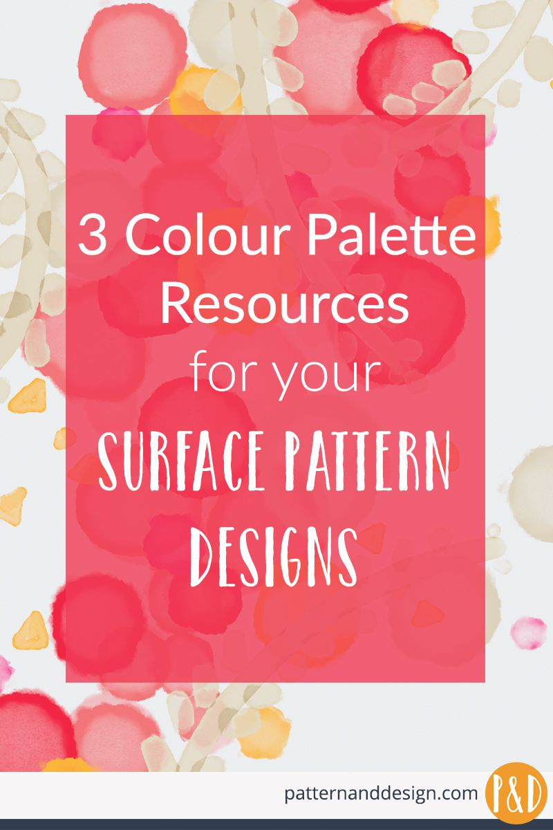 3 colour palette resources for your surface pattern designs #surfacepatterndesign