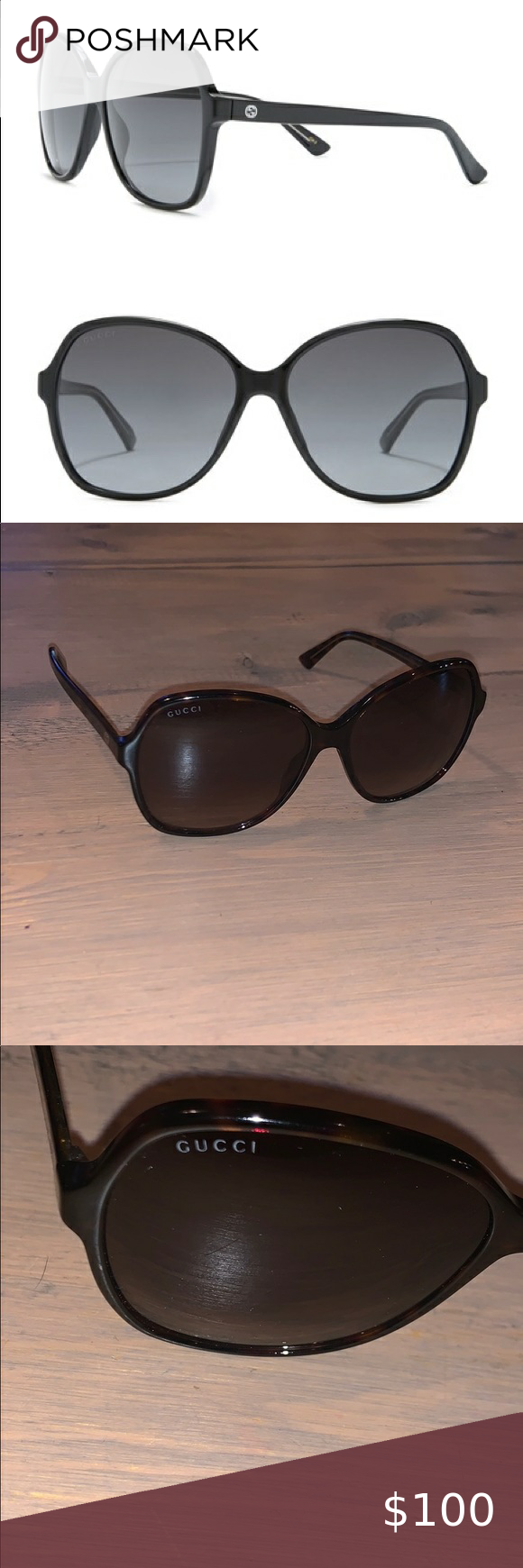 Gucci GG0509S sunglasses brand new Gucci GG0509S sunglasses brand new never worn stock photo shows black but they are brown . Never worn . Gucci Accessories Sunglasses