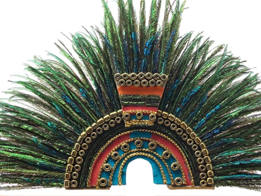Aztecas Penacho De Moctezuma Arte Plumario 850 00 En Mercado Libre Arte Plumario Arte Misterios Antiguos