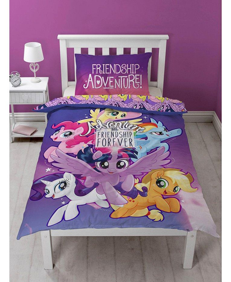 This adorable My Little Pony Movie Single Duvet Cover Set features ...