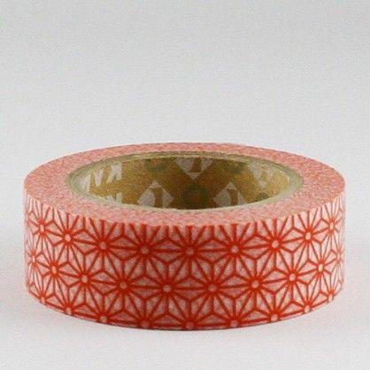 Asanoha shuaka (rouge) Masking tape