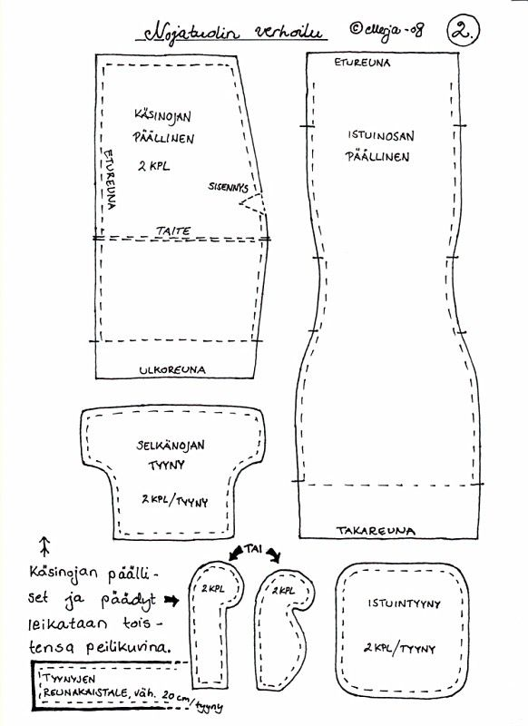 Ohje - Nojatuolin verhoilu