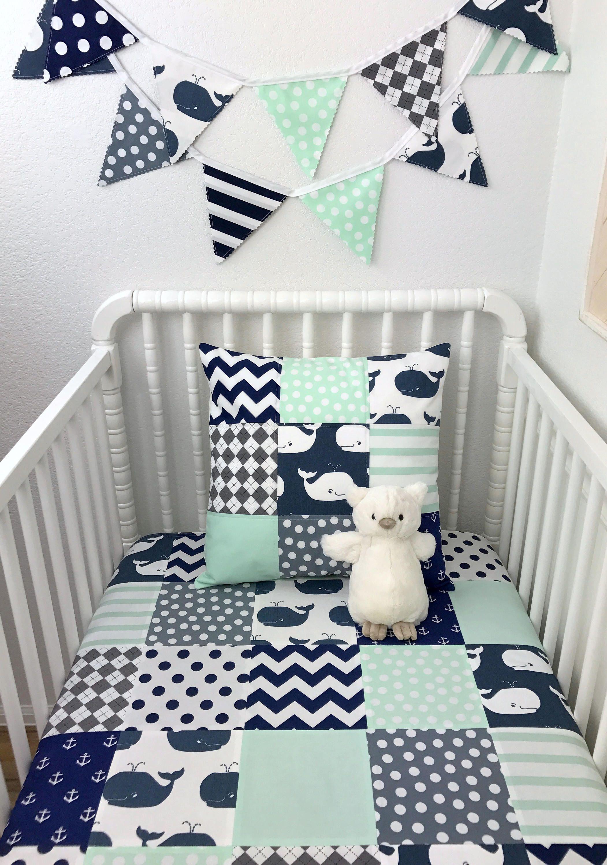 I Really Like This Crib Bedding Boy Boy Nursery Colors Baby