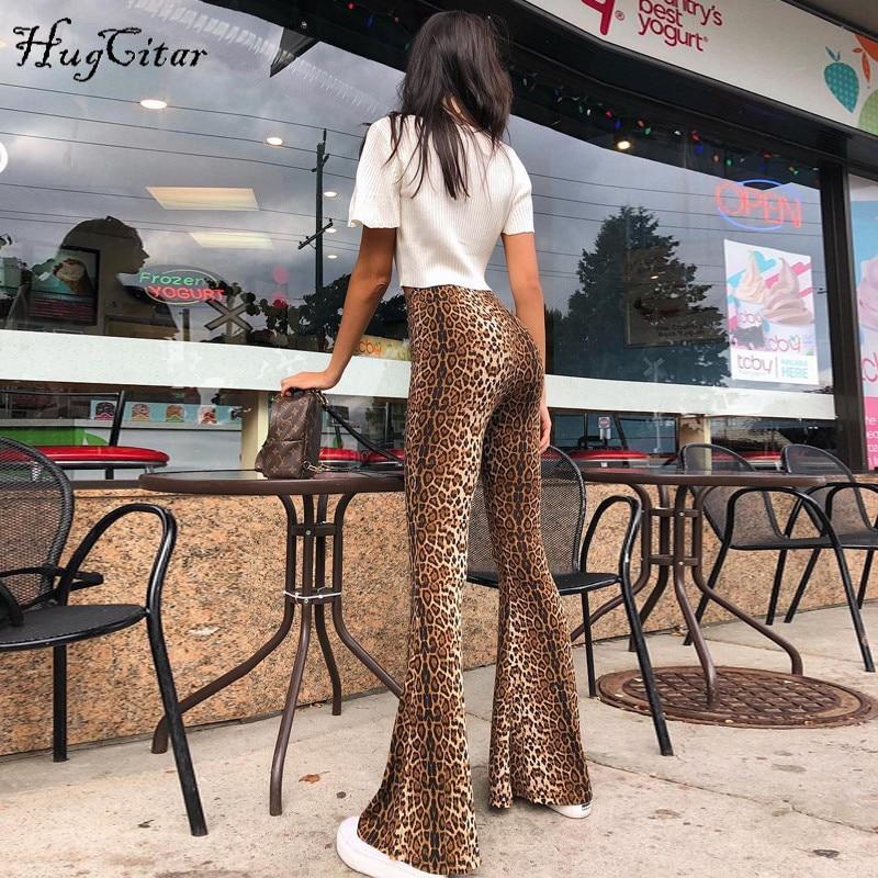 Leopard Print Flare Pants Model Pakaian Celana Panjang Wanita Model Baju Wanita