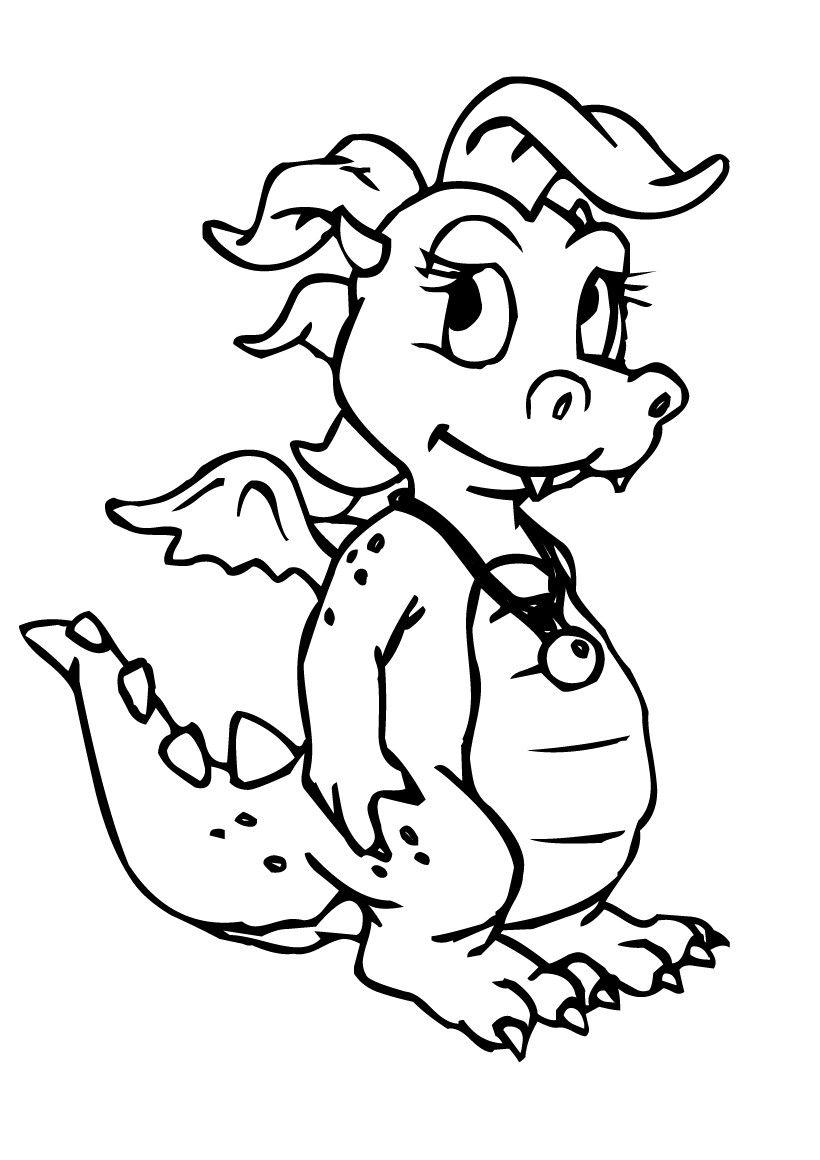 coloriage dun petit dragon tu es actuellement dans la rubrique coloriage dragon le coloriage dun petit dragon est un des coloriages prfrs des - Dessin De Dragon A Imprimer