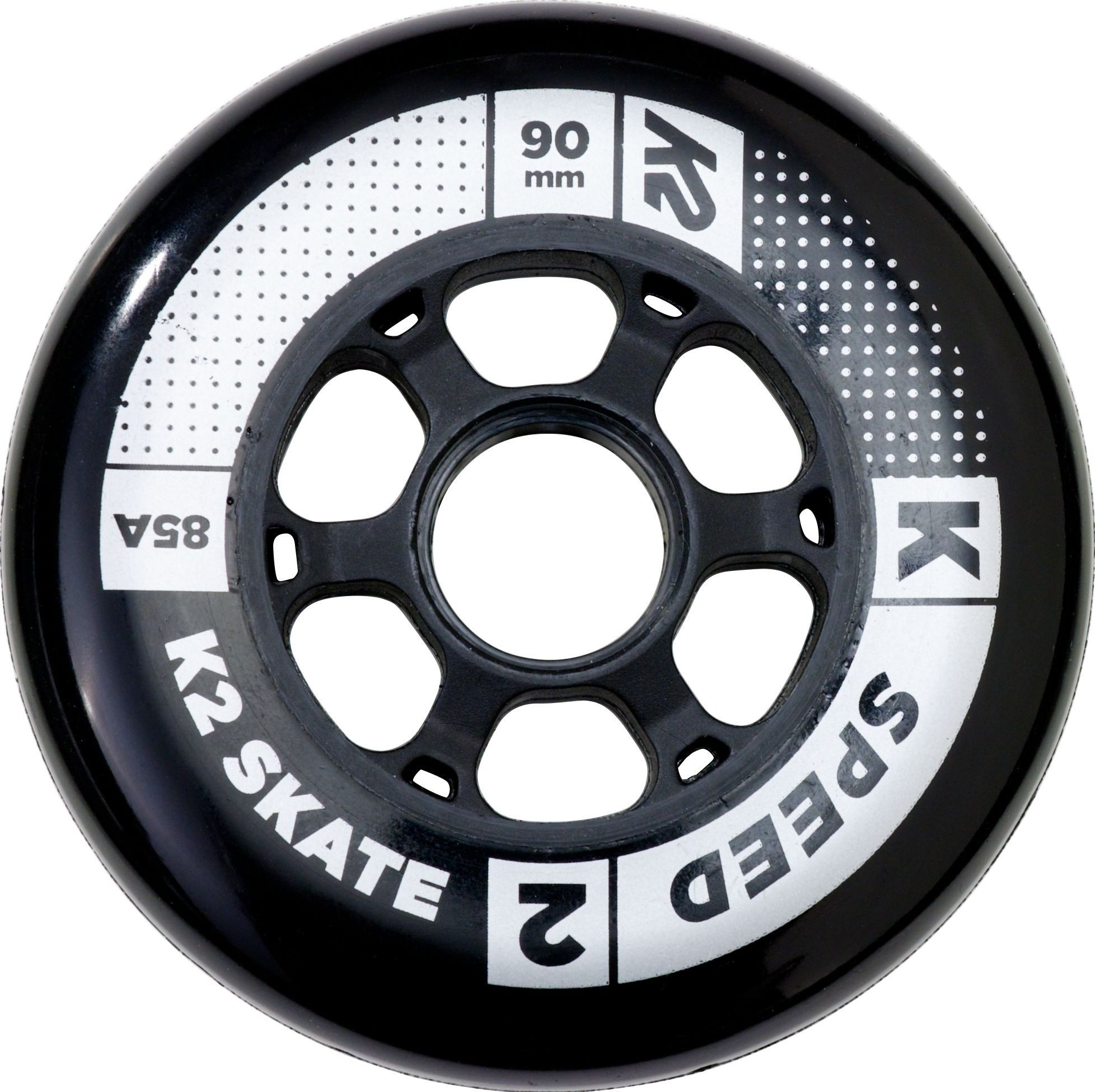 90mm, K2 Skate Speed 85A 8 Wheel Pack with ILQ 9 Bearing