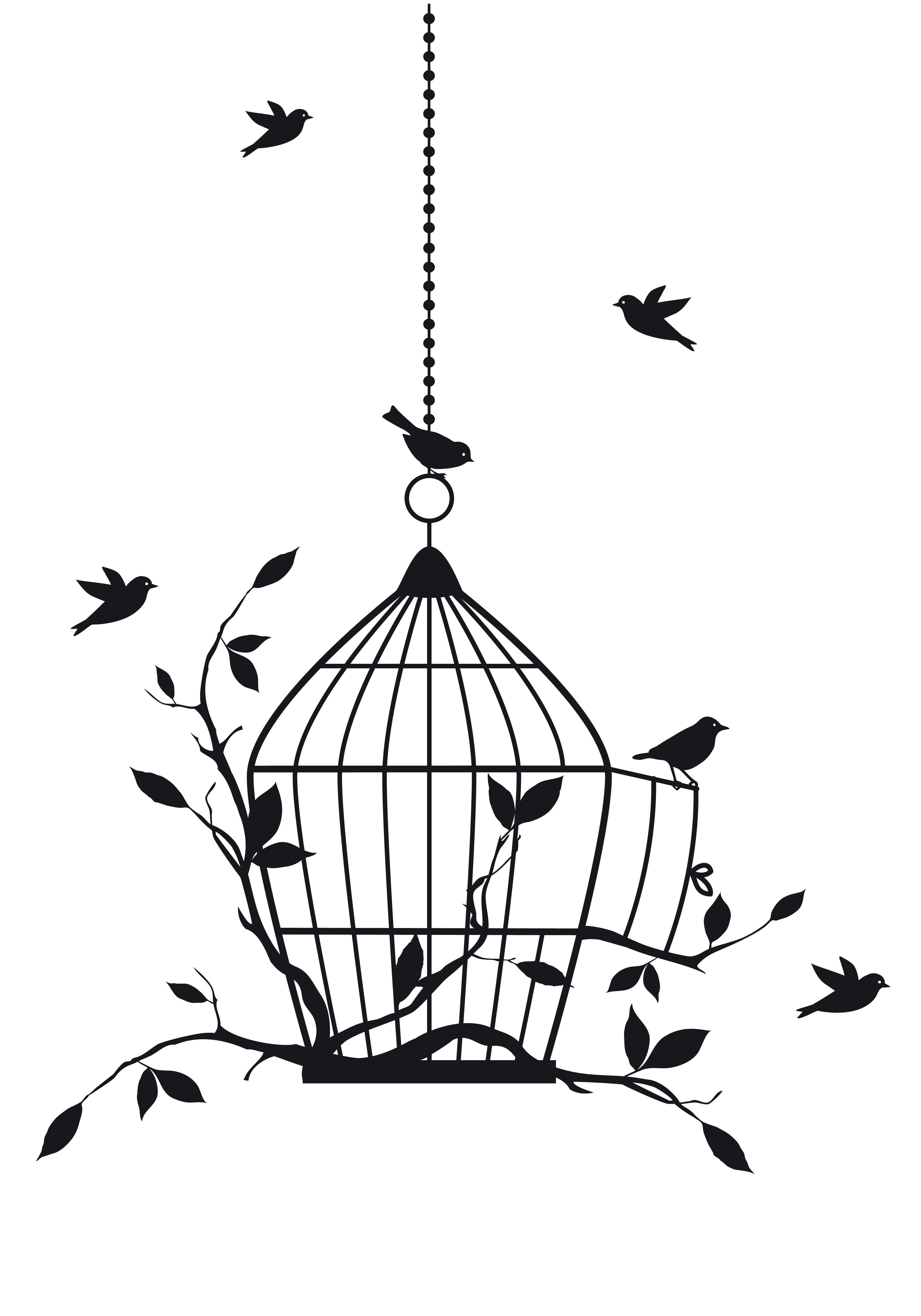 Dessin Oiseau En Cage hanging bird cage | dessins, esquisses, bullet | pinterest | dessin